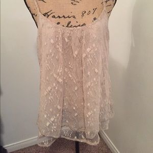 Daytrip Womens size Large lace sheer top